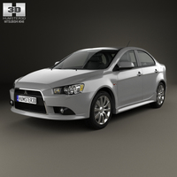 Mitsubishi Lancer sedan 2012 3D Model