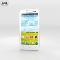 Lenovo A516 White 3D Model
