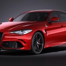 Alfa Romeo Giulia 2016 VRAY 3D Model