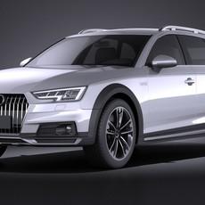 Audi A4 Allroad Quattro 2017 VRAY 3D Model
