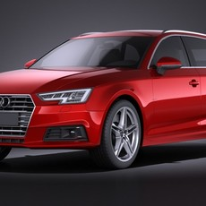 Audi A4 Avant 2016 VRAY 3D Model