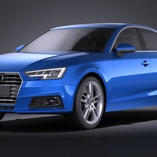 Audi A4 Sedan 2016 VRAY 3D Model