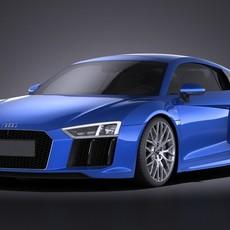 Audi R8 V10 2016 VRAY 3D Model