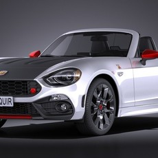 Fiat 124 Spider Abarth 2017 3D Model