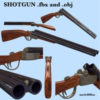 Shotgun fbx and obj 3D Model