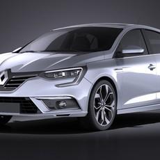 Renault Megane 2016 VRAY 3D Model