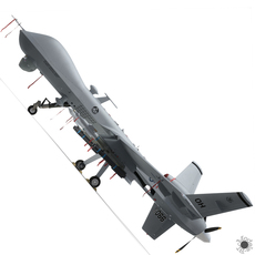 MQ-9 Reaper (Military Aircraft Drone) 3D Model