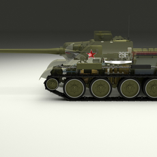 SU 100 Interior/Engine Bay Full 3D Model
