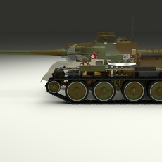 SU 100 Interior/Engine Bay Full Camo 3D Model