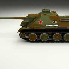 SU 100 Tank Destroyer Camo 3D Model