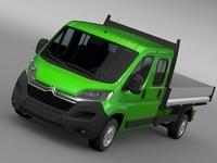 Citroen Relay Crew Cab Truck 2016 3D Model