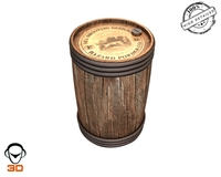 Gun powder Keg 3D Model