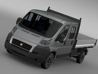 Fiat Ducato Crew Cab Truck 2009-2014 3D Model