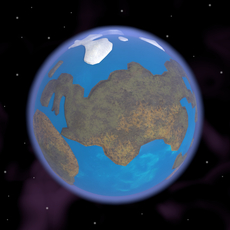 Caricature of Earth 3D Model