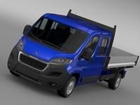 Peugeot Boxer  Crew Cab Truck 2016 3D Model