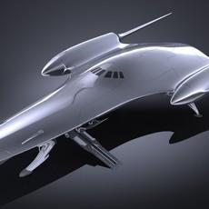 Star Wars Naboo Royal Starship 3D Model