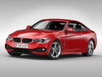 BMW 4 Series Coupe (2015) 3D Model