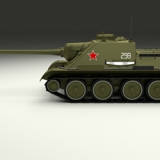 SU 100 Tank Destroyer 3D Model