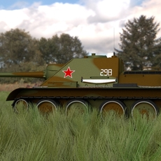 SU 100 Tank Destroyer HDRI Camo 3D Model