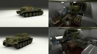 SU 100 with Interior 3D Model