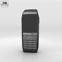 TAG Heuer Meridiist GMT PVD Black Alligator Red Stitch 3D Model