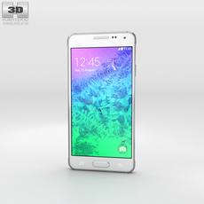 Samsung Galaxy Alpha Dazzling White 3D Model