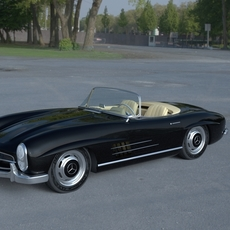 Mercedes 300SL Roadster W198 HDRI 3D Model