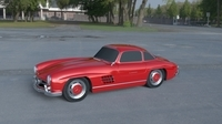 Rigged Mercedes 300SL W198 HDRI 3D Model