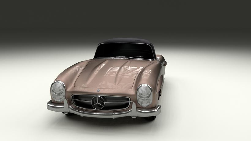 Mercedes 300SL Roadster Top Up HDRI 3D Model