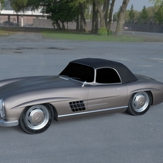 Mercedes 300SL Roadster Top Up HDRI 3D Model