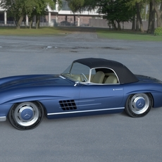 Mercedes 300SL Roadster Top HDRI 3D Model