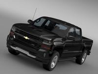 Chevrolet Silverado LT Z71 Crew Cab GMTK2 Standart Box 2016 3D Model