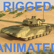 T-14 Armata. Rigged and animated 3D Model