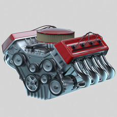 Car engine - Animated 3D Model