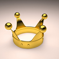 Gold crown 3D Model