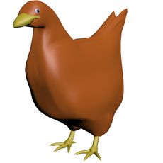 basic chicken 3D Model