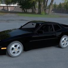 Porsche 944 Turbo with interior HDRI 3D Model