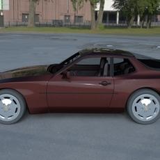 Porsche 944S w Interior HDRI 3D Model