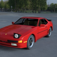 Porsche 944 with Interior HDRI 3D Model