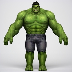 Game Ready Superhero Hulk 3D Model