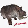 Hippopotamus Animated 3D Model