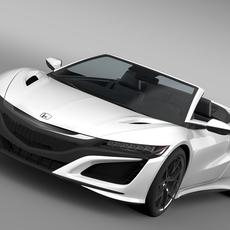 Honda NSX Cabriolet 2017 3D Model