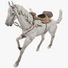 White Horse Animated 3D Model