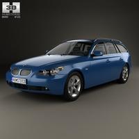 BMW 5 Series touring (E61) 2007 3D Model