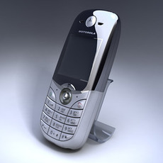 Motorola C650 Cell Phone 3D Model
