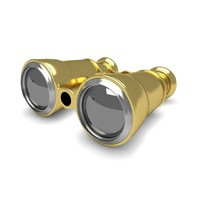 Opera Gold Glasses 3D Model