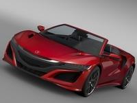 Acura NSX Cabriolet 2017 3D Model