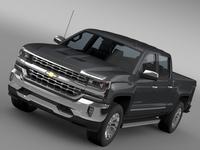 Chevrolet Silverado LTZ Crew Cab GMTK2 Standart Box 2016 3D Model