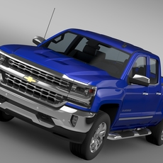 Chevrolet Silverado LTZ Double Cab GMTK2 Standart Box 2016 3D Model