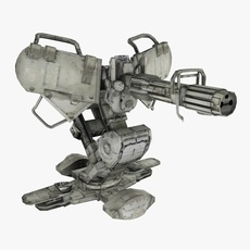 Machine Gun Turret 3D Model